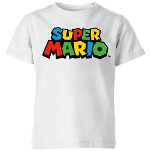 Nintendo Super Mario Colour Logo Kid's T-Shirt - White