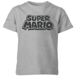T-Shirt Homme Logo Abîmé - Super Mario Nintendo - Gris