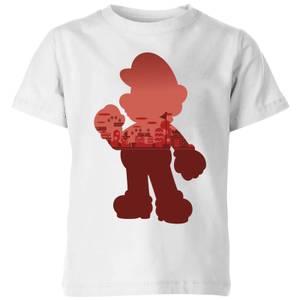 Camiseta Nintendo Super Mario Silueta Mario - Niño - Blanco