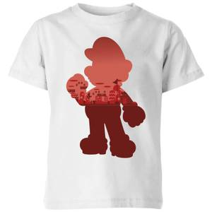 Nintendo Super Mario Mario Silhouette Kid's T-Shirt - White