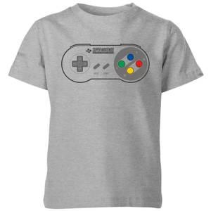 Nintendo SNES Controller Kinder T-shirt - Grijs
