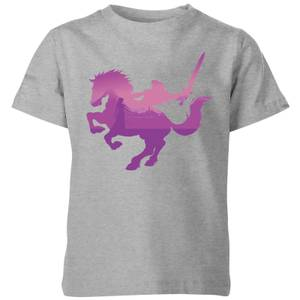 T-Shirt Enfant Silhouette - The Legend Of Zelda Nintendo - Gris
