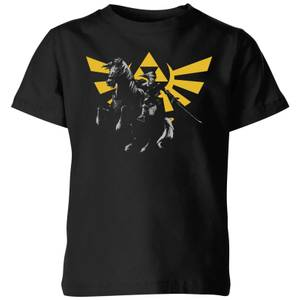 Nintendo The Legend Of Zelda Hyrule Link Kid's T-Shirt - Black