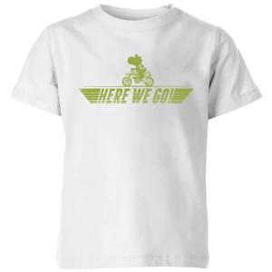 Nintendo Mario Kart Yoshi Here We Go Kid's T-Shirt - White