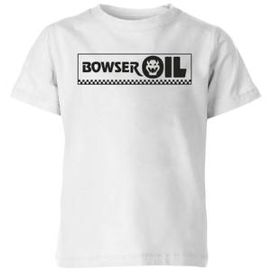 Nintendo Super Mario Bowser Oil Kid's T-Shirt - White