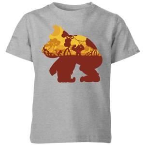 任天堂大金刚剪影红树林儿童T恤-灰色。