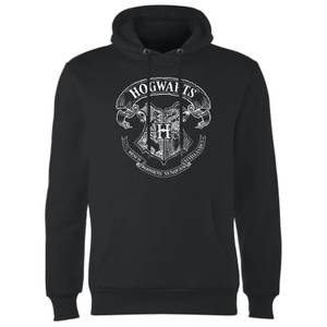 Harry Potter Hogwarts Crest Hoodie - Black