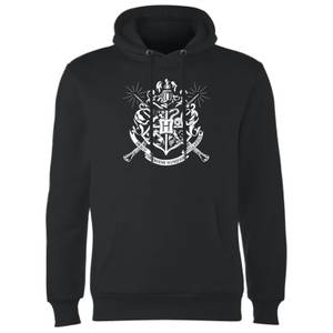 Harry Potter Hogwarts House Crest Hoodie - Black