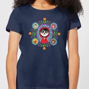 T-Shirt Femme Remember Me Coco - Bleu Marine