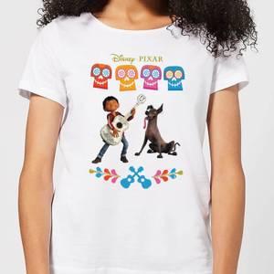 T-Shirt Femme Miguel et Logo Coco - Blanc