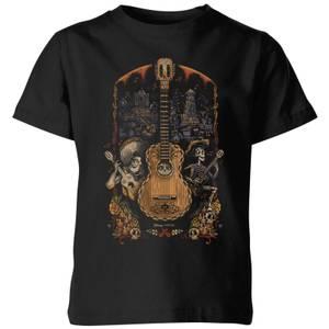 T-Shirt Enfant Affiche Guitare Coco - Noir