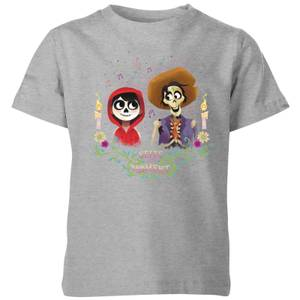 Coco Miguel And Hector Kids' T-Shirt - Grey