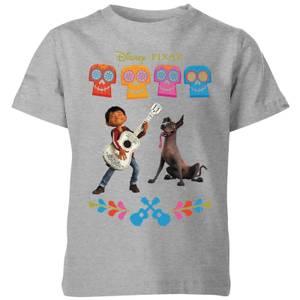 T-Shirt Enfant Miguel et Logo Coco - Gris