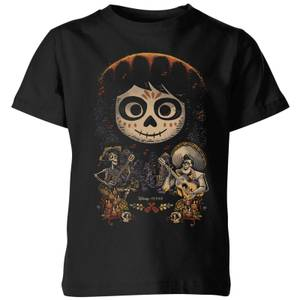 Coco Miguel Face Poster Kids' T-Shirt - Black
