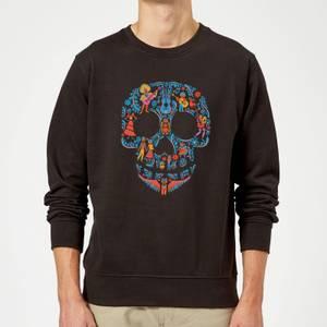 Coco Skull Pattern Sweatshirt - Black