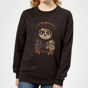 Coco Miguel Face Poster Women's Sweatshirt - Black