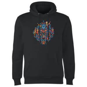 Coco Tree Pattern Hoodie - Black