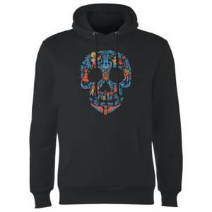 Coco Skull Pattern Hoodie - Black