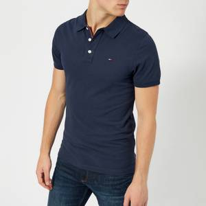 Tommy Jeans Men's Original Fine Pique Polo Shirt - Black Iris