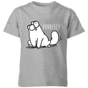 Simon's Cat Purrfect Kids' T-Shirt - Grey