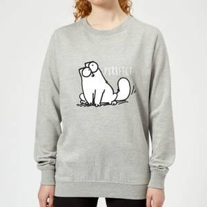 Simon's Cat Purrfect Women's Sweatshirt - Grey