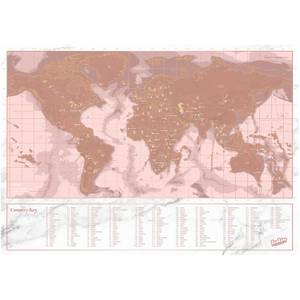 Travel Rose Gold Scratch Map