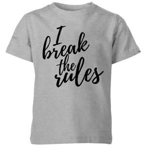 My Little Rascal I Break The Rules Kids' T-Shirt - Grey