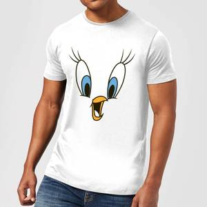 Looney Tunes Tweety Face Men's T-Shirt - White