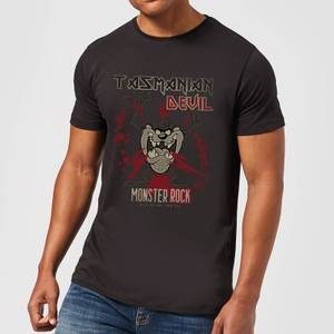 Looney Tunes Tasmanian Devil Monster Rock Men's T-Shirt - Black