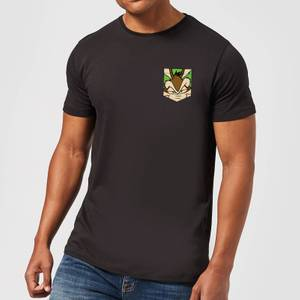 Looney Tunes Wile E Coyote Face Faux Pocket Men's T-Shirt - Black