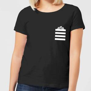 Looney Tunes Taz Stripes Pocket Print Women's T-Shirt - Black