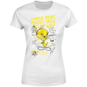 Looney Tunes Tweety Pie More Puddy Tats Women's T-Shirt - White