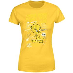 Looney Tunes Tweety Pie More Puddy Tats Women's T-Shirt - Yellow