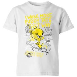 Looney Tunes Tweety Pie More Puddy Tats Kids' T-Shirt - White
