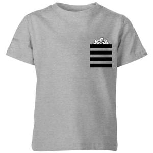 Looney Tunes Taz Stripes Pocket Print Kids' T-Shirt - Grey