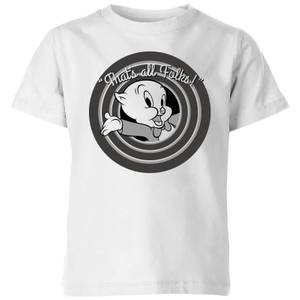 Looney Tunes That's All Folks Porky Pig Kids' T-Shirt - White