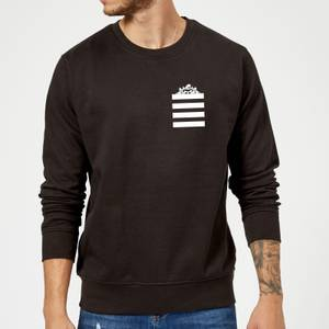 Looney Tunes Taz Stripes Pocket Print Sweatshirt - Black