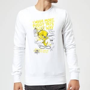 Looney Tunes Tweety Pie More Puddy Tats Sweatshirt - White
