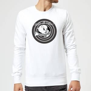 Looney Tunes That's All Folks Porky Pig Sweatshirt - White