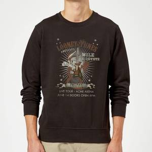 Looney Tunes Wile E Coyote Guitar Arena Tour Sweatshirt - Black
