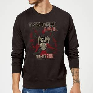 Looney Tunes Tasmanian Devil Monster Rock Sweatshirt - Black