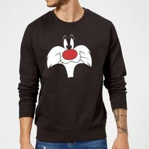 Looney Tunes Sylvester Big Face Sweatshirt - Black