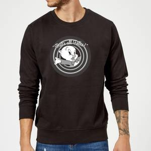 Sweat Homme That's All Folks ! Porky Pig Looney Tunes - Noir