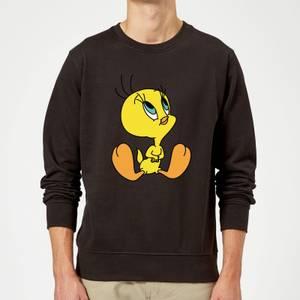 Looney Tunes Tweety Sitting Sweatshirt - Black