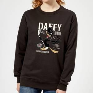 Looney Tunes Daffy Concert Women's Sweatshirt - Black