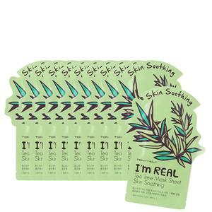 TONYMOLY I'm Real Sheet Mask Set of 10 - Tea Tree (Worth $30)