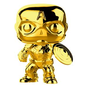 Marvel MS 10 Captain America Gold Chrome Pop! Vinyl Figure