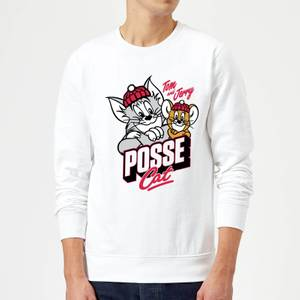 Tom & Jerry Posse Cat Pullover - Weiß