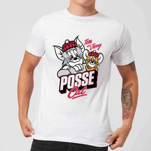 Tom & Jerry Posse Cat Herren T-Shirt - Weiß
