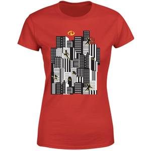 Die Unglaublichen 2 Skyline Damen T-Shirt - Rot